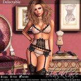 ~Blacklace~ Delectable Cream & Blk Vintage Lace Set