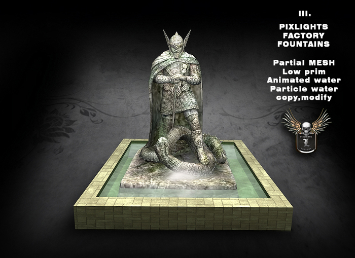 PIXLIGHTS FACTORY FOUNTAIN III
