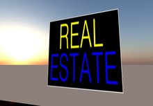 Real Estate For Sale Sign -