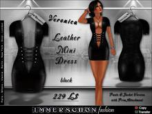 Immerschoen Girl -  Leather Skirt Dress 'Veronica'