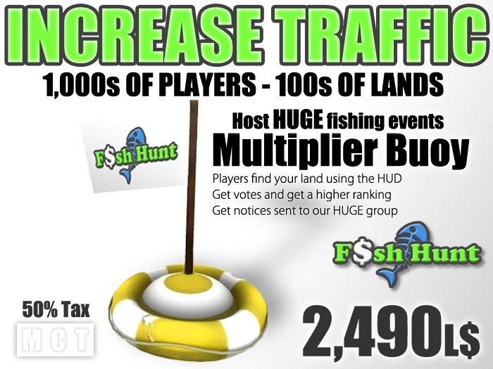 Fish Hunt Buoy Yellow (50% tax version) - Increase Land Traffic
