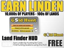 Linden Gold Hunter HUD - Earn Linden by hunting for coins