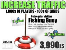 Fish Hunt Buoy Red - Increase Land Traffic (30% tax version)