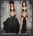 [Wishbox] Cassiopeia (Petites) - Goddess Moon Priestess Dress Fantasy Silks Black