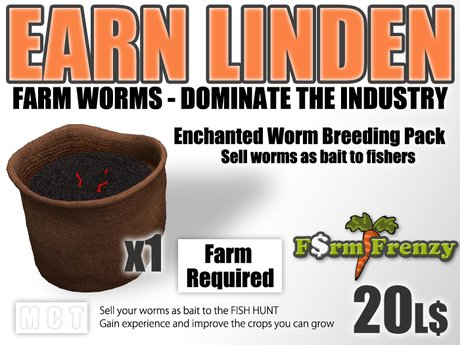 Enchanted Worms Breeding Pack - Earn Linden by farming for worms