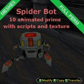 Spider bot animated meshes