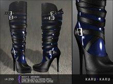 KARU KARU - Latex And Leather Boots Brenda (BLUE)
