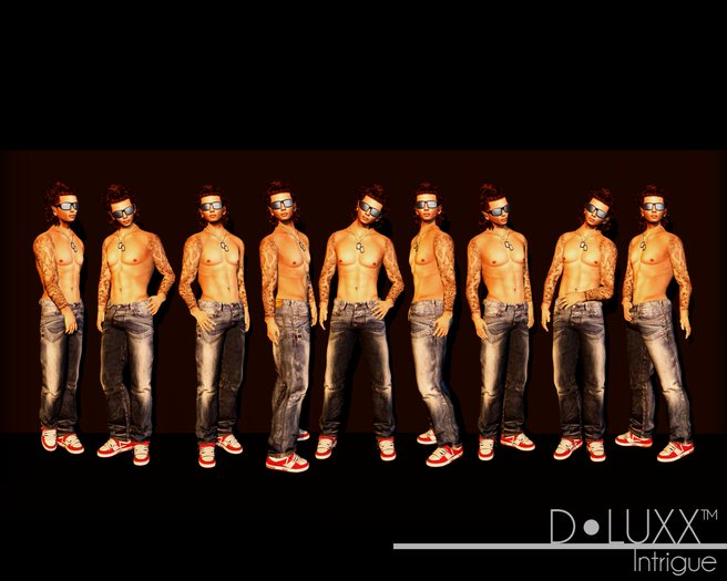 D.Luxx Poses - Intrigue (10 Static Male Poses)