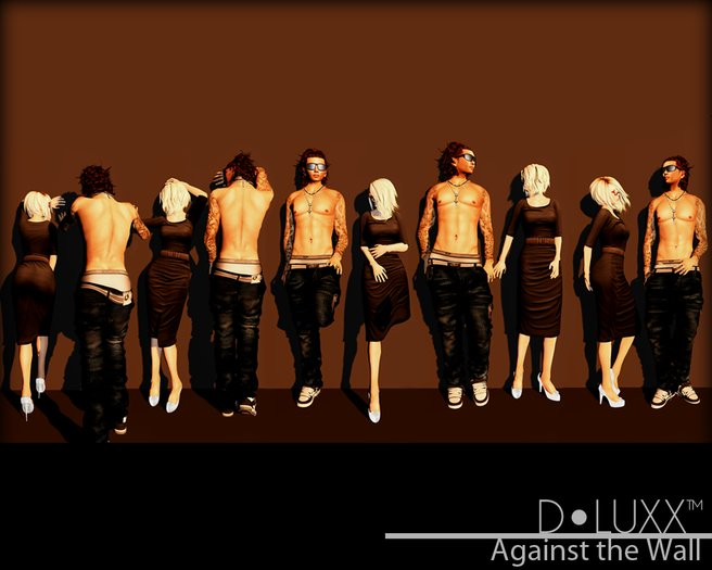 D.Luxx Poses - Fashionably Late - Against the Wall (10 Static Male Poses)