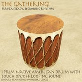 The Gathering! - Native American Style drum - With touch on/off Sound! teepee/camp/lodge