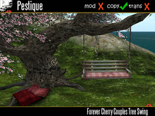 Forever Cherry Couples Tree Swing & Lounger from Pestique