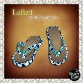 SF* Petites Leilani Flip Flops, Hawaiian Blue