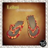 SF* Petites Leilani Flip Flops, Hawaiian Red