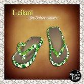SF* Petites Leilani Flip Flops, Hawaiian Green