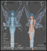 [Wishbox] Water Fae (Petites) - Aquatic Elemental Fairy Outfit with Wings for Petite Mesh Avatars