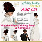 EBDesign - Milkshake glasses Add On animation & drinking straw