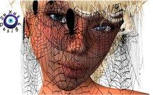 [su] dumping - Veil HALLOWEEN GOTHIC SPIDER WEB Flying Resize Sar