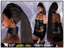 DEMO **SD** Letitja extra long Hair Black Night PACK