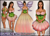 [Wishbox] Thumbelina Flower Gown (Pale Rose Pink) - Fantasy Costume Fairy Tale Dress Fae with Wings