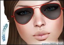 WaterWorks UV Aviator Sunglasses - RED