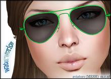 WaterWorks UV Aviator Sunglasses - GREEN