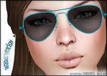 WaterWorks UV Aviator Sunglasses - TEAL