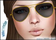 WaterWorks UV Aviator Sunglasses - YELLOW