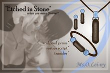 """Ms.O.Lei-ny™ """"Etched in Stone"""" (Braille """"i love you"""") female set"""