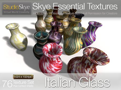Italian Glass - Skye Essential - 76 Full Perms Textures