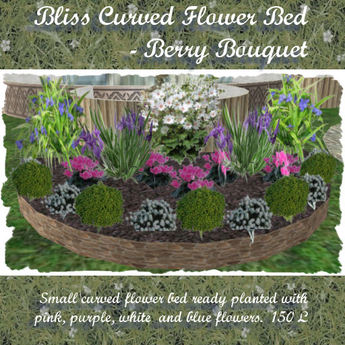 Second Life Marketplace Bliss Curved Flowerbed 2berry Bouquet