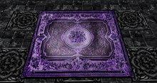Victorian/Oriental Rug - Purple/Black - 4