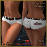 ! Hot, narrow and cool: Je t'aime Sexy Leather Hot Pants *Skimpy* - white