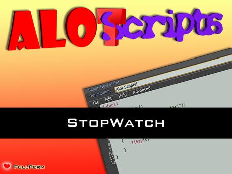 Editable! StopWatch / Events / Users / etc...