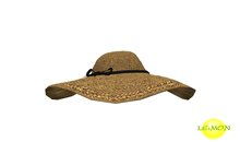 LE:MON straw hat & black band