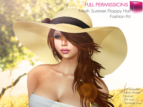 Full Perm Mesh Summer Floppy Hat - Fashion Kit