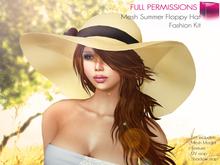 Full Perm Mesh Summer Floppy Hat - Fashion Kit