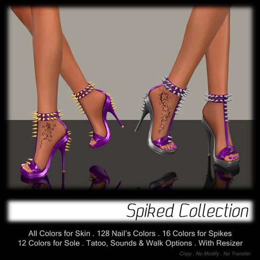 Purple Spiked Heels