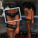 Look sexy as Hell Je t'aime Sexy Leather Hot Pants *Narrow* - black