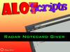 ✖ Radar Notecard Giver