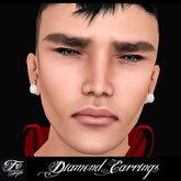 ::Fe Style:: Diamond Earrings - Unisex