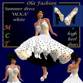 "SALE - Summer dress ""OLKA"" Ola Fashion - white"