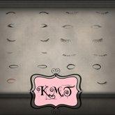 .:::K,M,T:::.Skin Creators Male Creations Eyelashs Set Of 26
