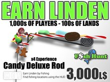 Linden Fish Hunter - Candy Deluxe Rod - Earn Linden by hunting for fish