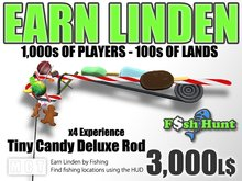 Linden Fish Hunter - Candy Deluxe Rod (Tiny Avatars) - Earn Linden by hunting for fish