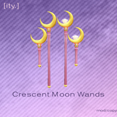 [ity.] Crescent Sailor Moon Wands
