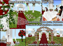 Red Dark (bordeaux) Wedding Full Set Auto rez