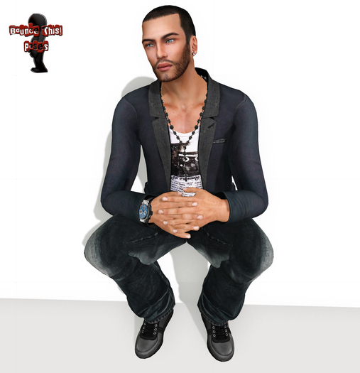 Bounce This Poses - Male Kneeling