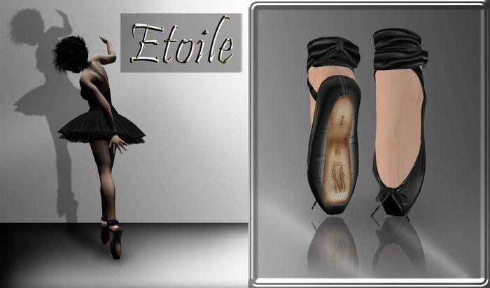 ::*Etoile*::Ballet Shoes -Black-