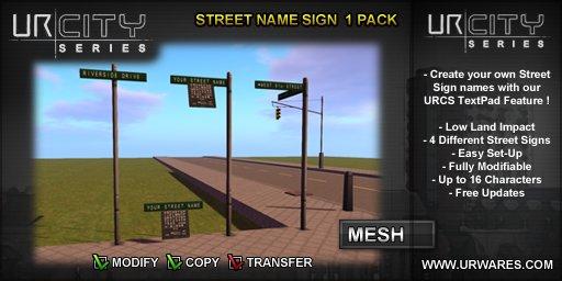 [URCS] STREET NAME SIGN 1