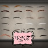 .:::K,M,T:::.Skin Creators Male Eyebrows Set Of 23